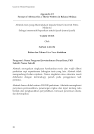 format abstrak tesis guide to thesis preparation ver 2013