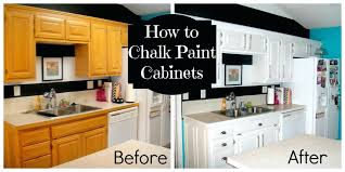Oak Cabinet Kitchen How To Chalk Paint Your Cabinetsupdating Oak Cabinet Kitchen