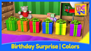 Colors For 2016 by Birthday Surprise Learn Colors For Kids With Fun Toys And