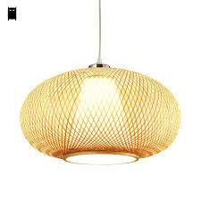 Lantern Pendant Light Fixture Bamboo Pendant Lighting Bamboo Wicker Rattan Lantern Pendant Light