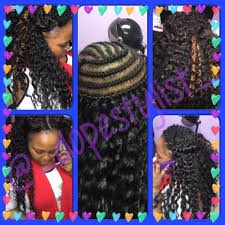 crochet weave with deep wave hairstyles for women over 50 crochet braid style used with freetress deep wave hair 4 packs i m