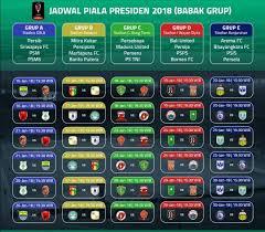 Jadwal Piala Presiden 2018 Inilah Jadwal Lengkap Piala Presiden 2018 Media Jatim