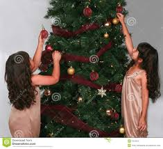 hanging ornaments on tree stock photo image 7254944