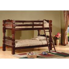 Stackable Bunk Beds Amazon Com Twin Over Twin Bunk Bed Finish Esprit Cherry Kitchen