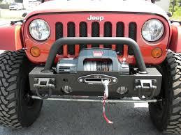 rugged ridge front bumper with stinger lights