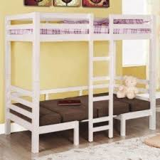 white bunk bed with stairs foter