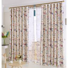 chic european patterned beautiful country style floral curtains