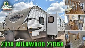 new 2018 bunk model wildwood 27dbk front bedroom travel trailer rv