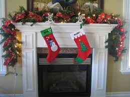 living room mantel christmas decorating ideas for small living