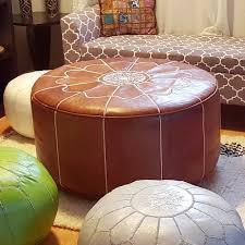 safavieh santiago leather pouf ottoman hayneedle