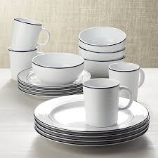 blue band 16 dinnerware set crate and barrel