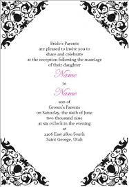 wedding reception invitations templates wblqual com