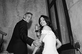 Engagement Gift From Parents George Clooney Gazes At Wife Amal In Wedding Shots From Their