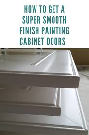 how to get polyurethane cabinets how to get a smooth finish painting cabinet doors