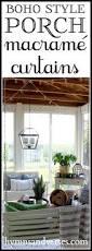 boho style back porch with macrame curtains hymns and verses