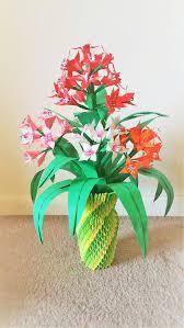 3d Origami Flower Vase Instructions 3d Origami Flower Vase Centerpice Wedding Decor Home