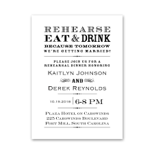 rehersal dinner invitations rehearse eat and drink rehearsal dinner invitation