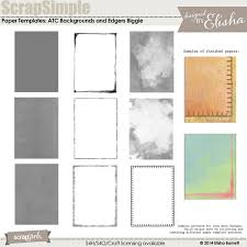 scrapsimple paper templates atc backgrounds and edges