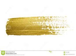 gold paint brush stroke stock illustration image 63013377