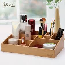 high quality beech soild storage box wooden tabletop makeup