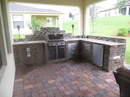 outdoor kitchen prefab kits wood with charcoal grill and outdoor