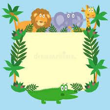 safari cartoon cute safari cartoon animals stock vector illustration of cute