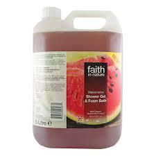 bentley watermelon faith in nature shower gel u0026 foam bath watermelon 5l faith