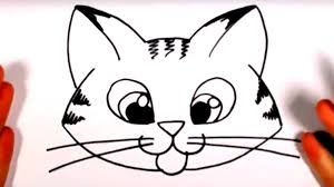 draw cute kitten face tabby cat face drawing art