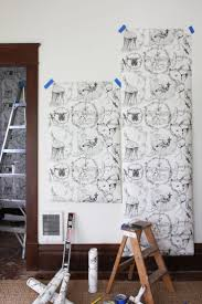 the farmhouse wallpapering the baby nook u2014 the grit and polish