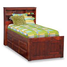 ranger twin bookcase bed with 3 underbed drawers and trundle