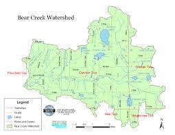Bear Creek Trail Map Cannon Township Mi Bear Creek Watershed