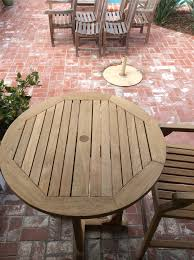 How To Refinish Teak Dining Table Refinishing Teak Outdoor Furniture Wilson Painting