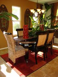 dining room terrific table decor with simple design flowers on the