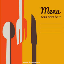 retro restaurant menu template vector free download