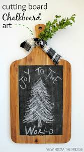 cutting board chalkboard art view from the fridgeview from the