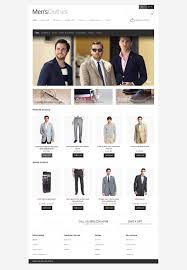 Opencart Hosting Title Men U0027s Clothing Store Opencart Template 45302