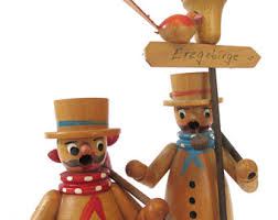 smoker wood figure toadstool rauchermann german
