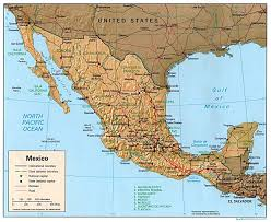South America Physical Map by Map Of Mexico And South America Map Of South America And Mexico