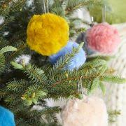 bauble pompom diy kit wool couture