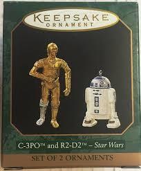 amazon com 1997 hallmark c 3po and r2 d2 miniature star wars