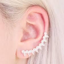 earrings on ear ear cuff and stud earrings jewellery angel