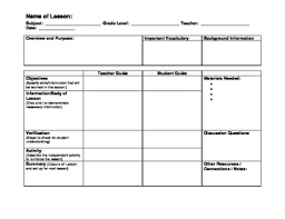 Lesson Plan Template Esl lesson plan template with esl considerations by dr hamtil