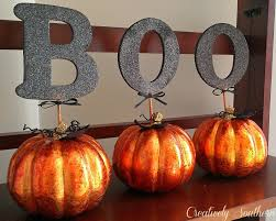 spray paint glitter pumpkins