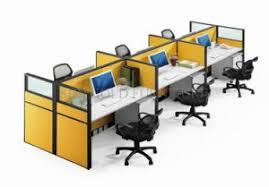 panneau de bureau compartiment jaune classique de centre d appels de seater du