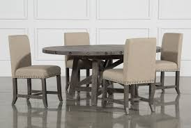 jaxon 5 piece round extension dining set w upholstered chairs