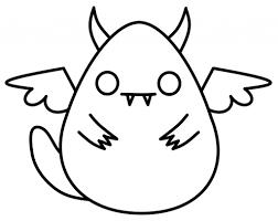 cute monster drawings funny cartoon monsters characters halloween