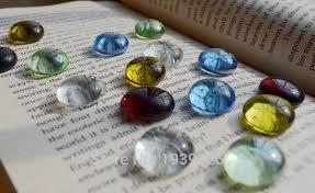Decorative Glass Stones For Vase Pcs Color Glass Craft Gift Mixed Color Pebbles Stones For Vase