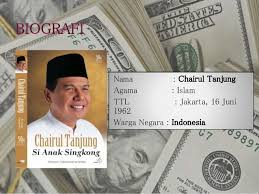 biografi chairul tanjung in english chairul tanjung ppt