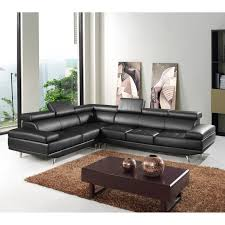 Plum Leather Sofa Black And White Leather Sofa Left Side Sectional Sofas Modern