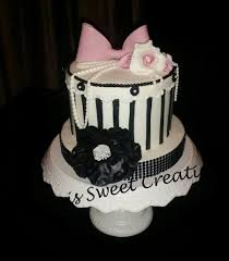 white pink and black stripes birthday cake cakecentral com